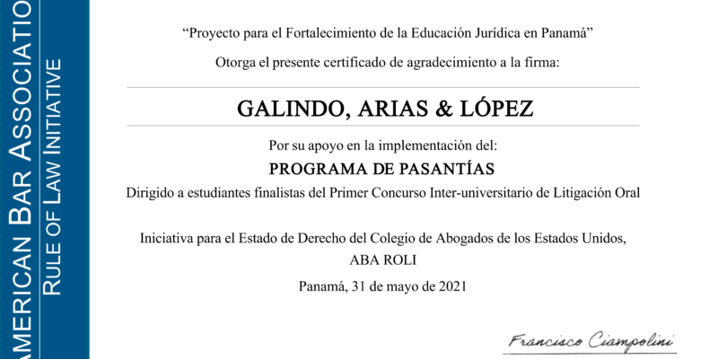 GALA Recibe Reconocimiento Del Colegio De Abogados De Los Estados Unidos